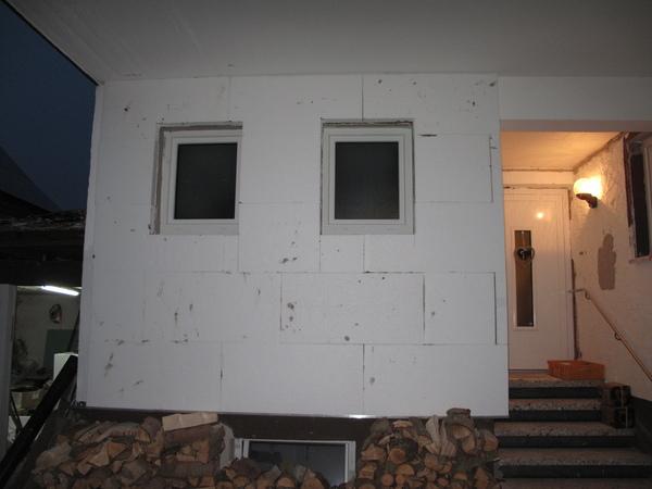 d mmung im eingangsbereich und au enwand bad diy. Black Bedroom Furniture Sets. Home Design Ideas