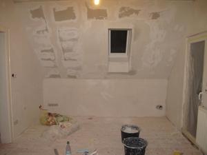 spachtelarbeiten beendet diy. Black Bedroom Furniture Sets. Home Design Ideas