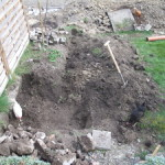 Entfernen Beton aus Garten