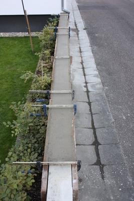 Gartenmauer betonieren