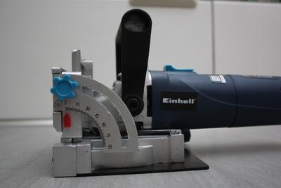 Einhell Flachdübelfräse BT-BJ 900: Winkeleinstellung