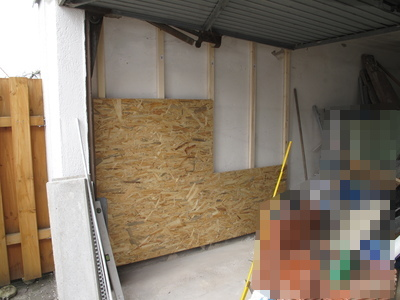 projekt von der garage zur werkstatt wand mit osb. Black Bedroom Furniture Sets. Home Design Ideas