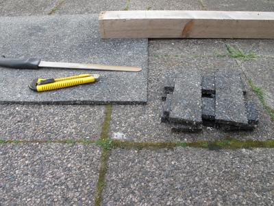Unterlegpads aus Bautenschutzmatte